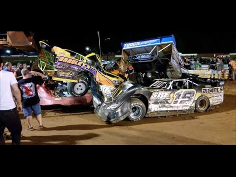 July 30 2016 JCR crash at Eastside Speedway in Waynesboro, VA