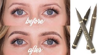 REALISTIC BROW TATTOO EFFECT | How To Use Eyebrow Pens | Sharon Farrell