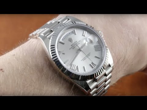 247ae7725093d Rolex Day-Date 40 WHITE GOLD (228239) Luxury Watch Review - YouTube