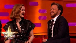 James McAvoy Made Fun of Jessica Chastain's X-Men Moves! | The Graham Norton Show