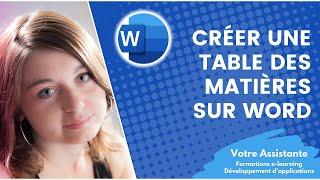 Créer une table des matières automatique sous Word thumbnail