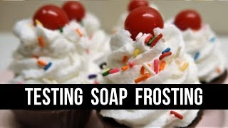 Testing a Soap Frosting Recipe | #12DaysofSoapmas | Royalty Soaps