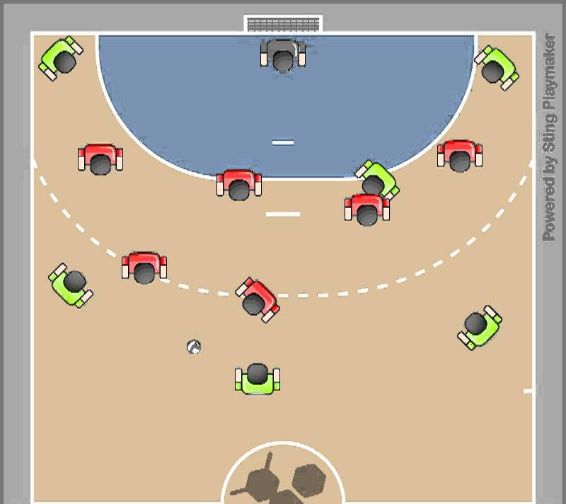 handball zone defense animation created using yellowjacket. Black Bedroom Furniture Sets. Home Design Ideas