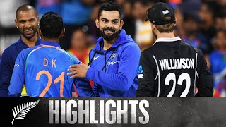 India Seal Series With 7 Wicket Win | HIGHLIGHTS | 3rd ODI - BLACKCAPS v India, 2019
