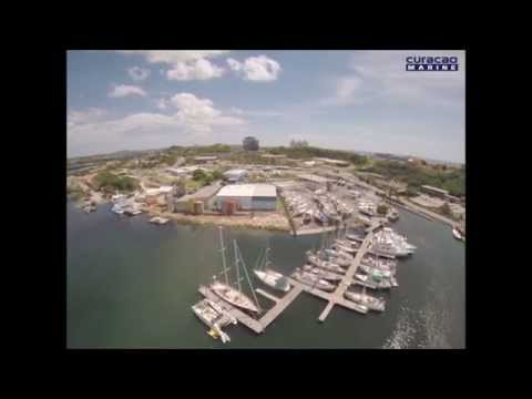 Aerial view of Curacao Marine