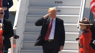 President Trump arrives for the G7 Summit in Quebec, Canada. June 8, 2018. Trump at G7 Summit
