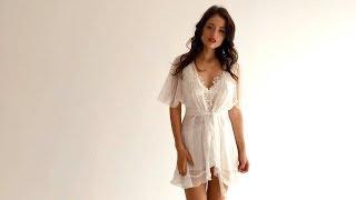 Комплект из шифона и кружева для утра невесты Venera в интернет-магазине CorsetShop.ru