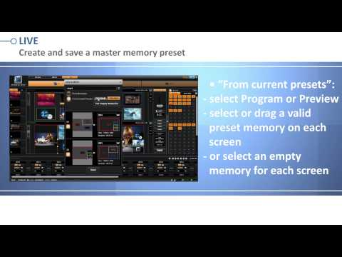 Livecore Series Web Rcs Working With Memory Presets