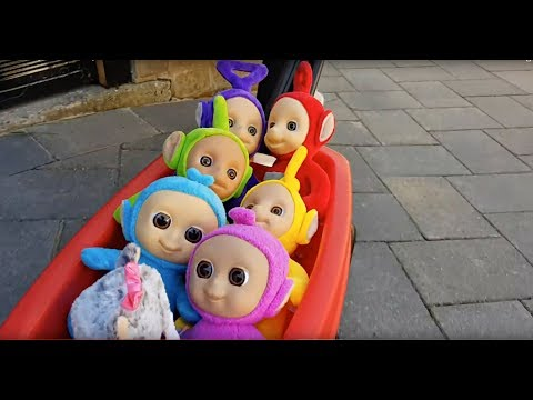 Teletubies  Wagon Ride On - Learn Colors