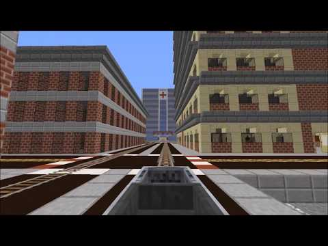 Diamantstadt Minecraft [Line 4 - 69th St - Arlington Line] Red Line Subway