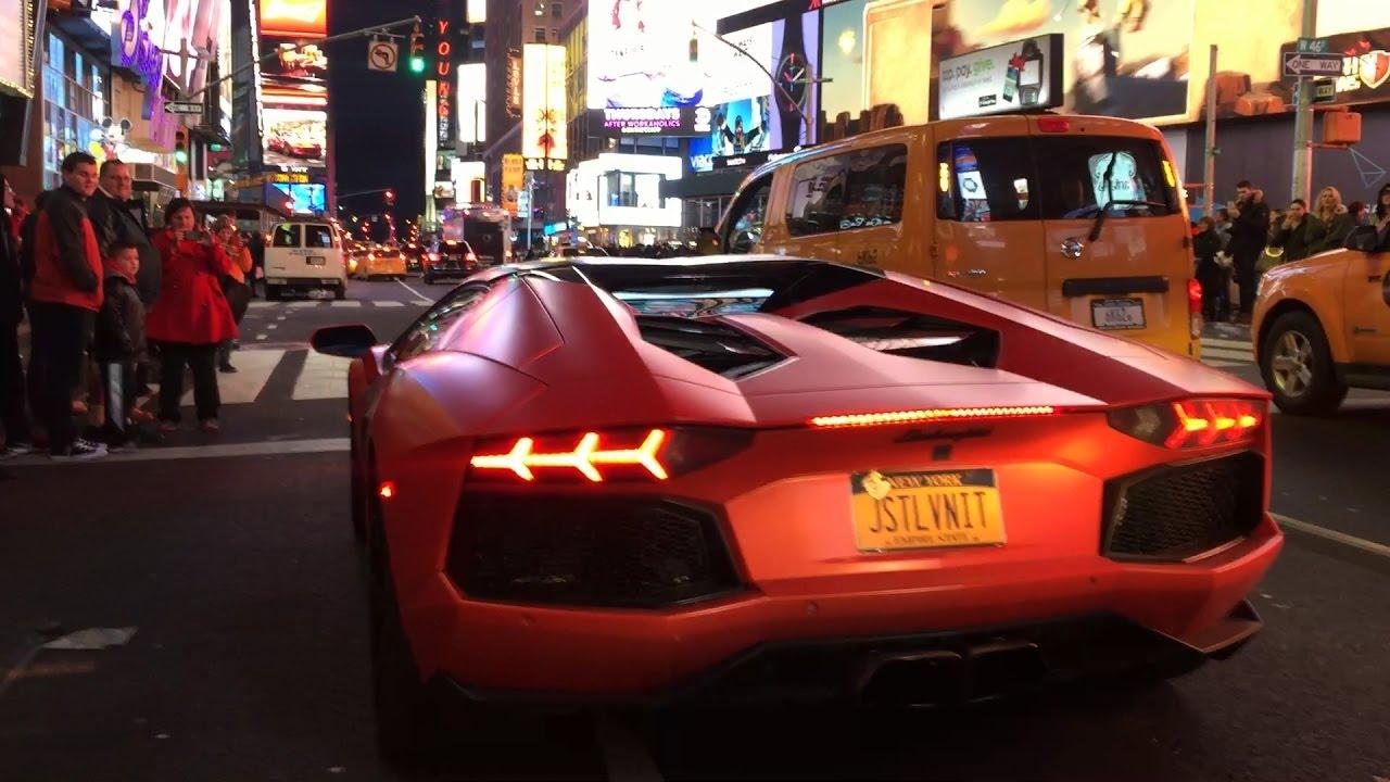 Lamborgini Aventador || Huracan in Time Square!