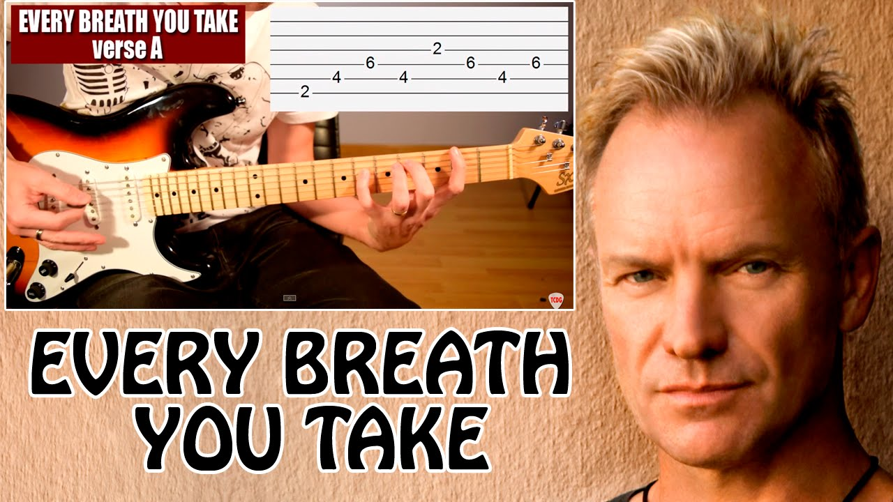 How To Play Every Breath You Take On Electric Guitar The Police Video Tab Tutorial Tcdg Youtube