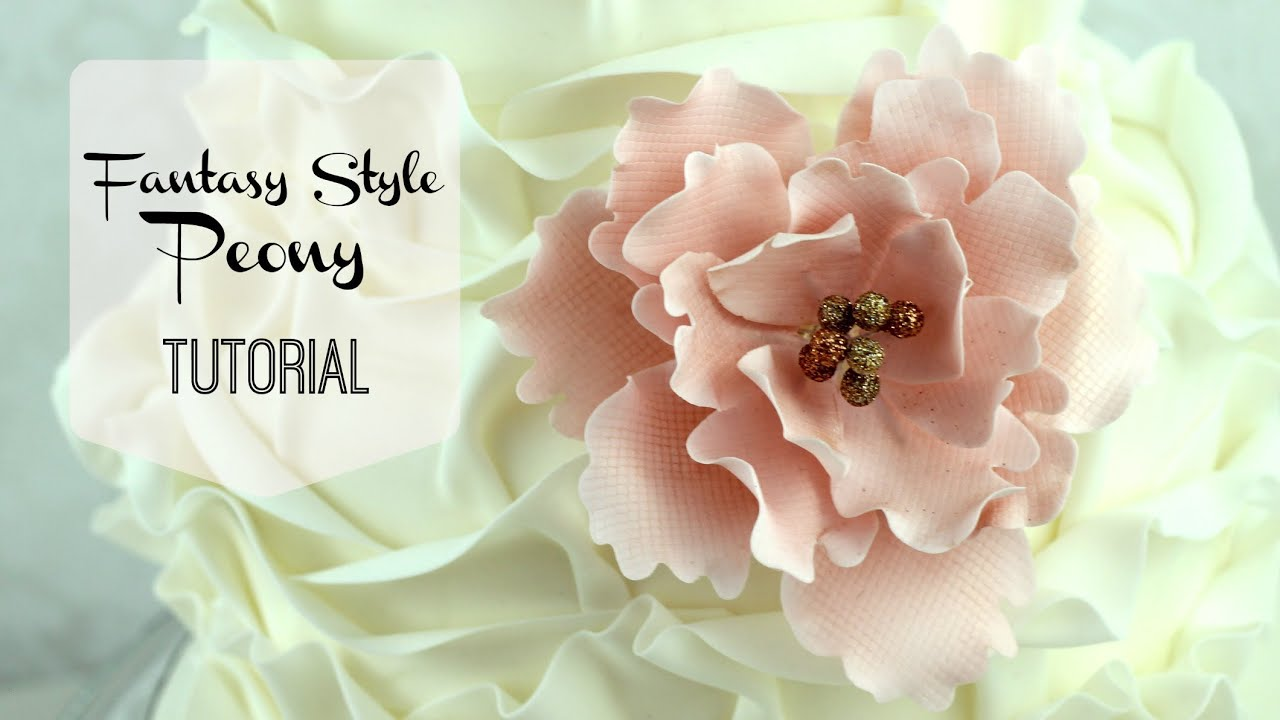 wedding cake flowers gumpaste tutorials quot style quot peony tutorial 22676