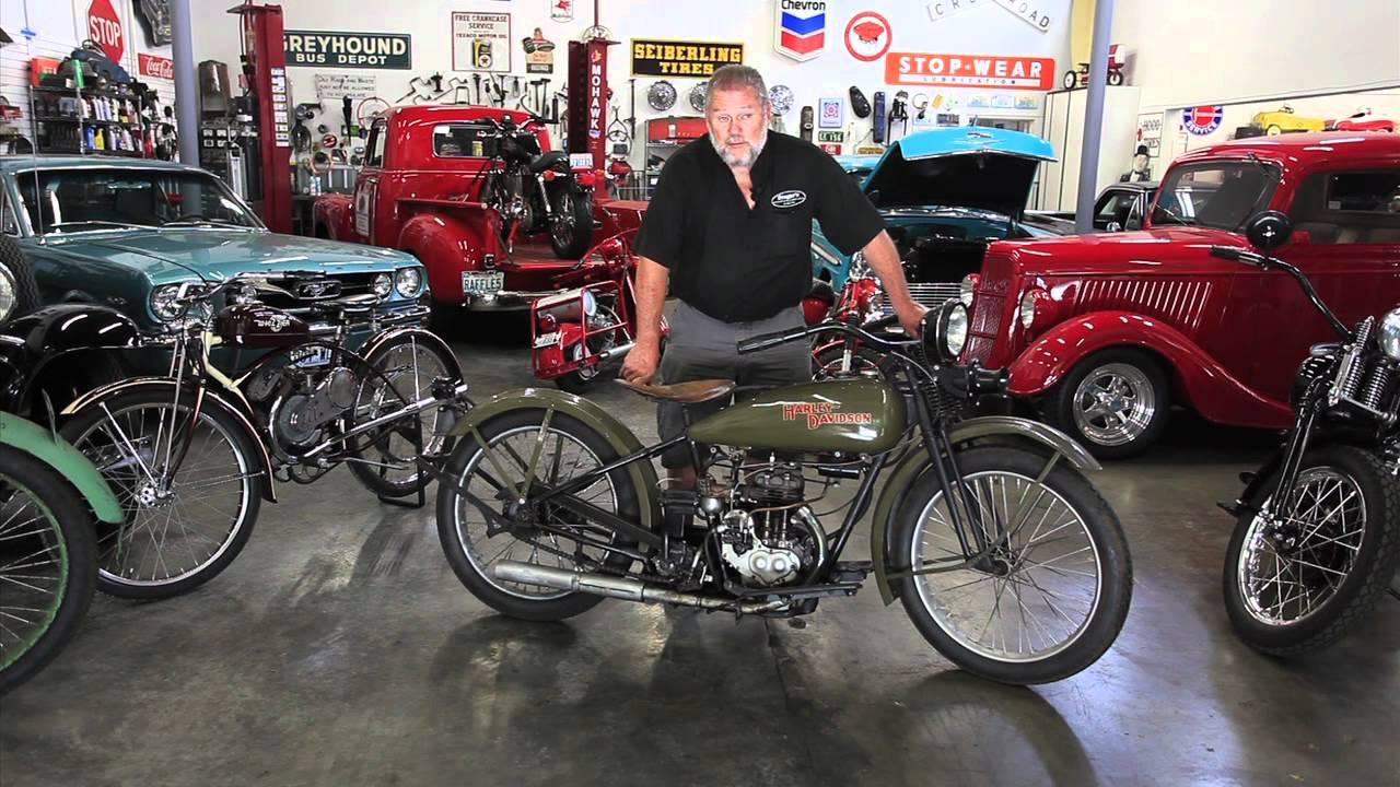 "1928 Harley Davidson Ba Single: 1928 Model ""B"" Harley-Davidson Motorcycle At Drager's"