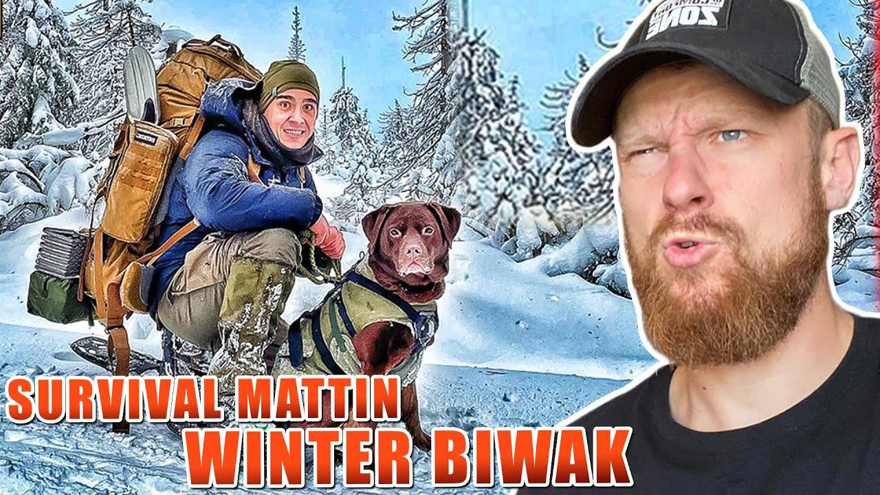 Fritz Meinecke reagiert auf 3 TAGE WINTER BIWAK von Survival Mattin