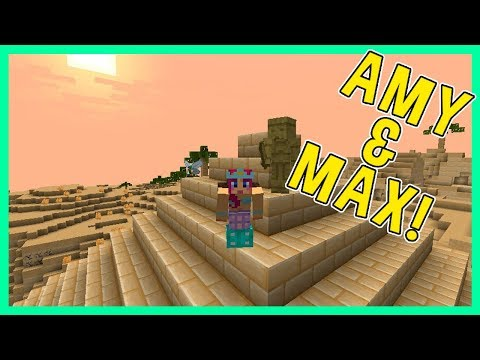 Amy & Max! Ep.22 JOURNEY INTO ANCIENT EGYPT! | Minecraft | Amy Lee33