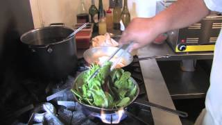 Chicken With Garlic Spinach Dinner Video Recipe From Chaplin's