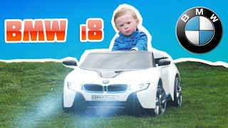 bmw i8 power wheels kids toy unboxing licensed brands 12 volt kid car