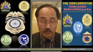 A Message of HRH TIBURCIO VILLAMOR MARCOS TALLANO TAGEAN iV to All Filipinos