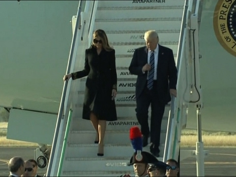 Raw: President Donald Trump Arrives in Rome
