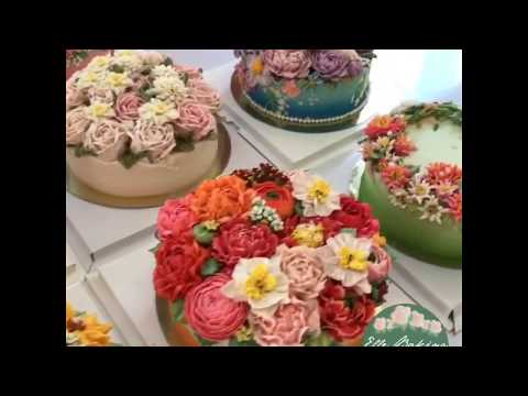 เค้กดอกไม้เกาหลีสวยๆ เค้กวันเกิด เค้กแต่งงาน เค้กบูชาข้าวพระ