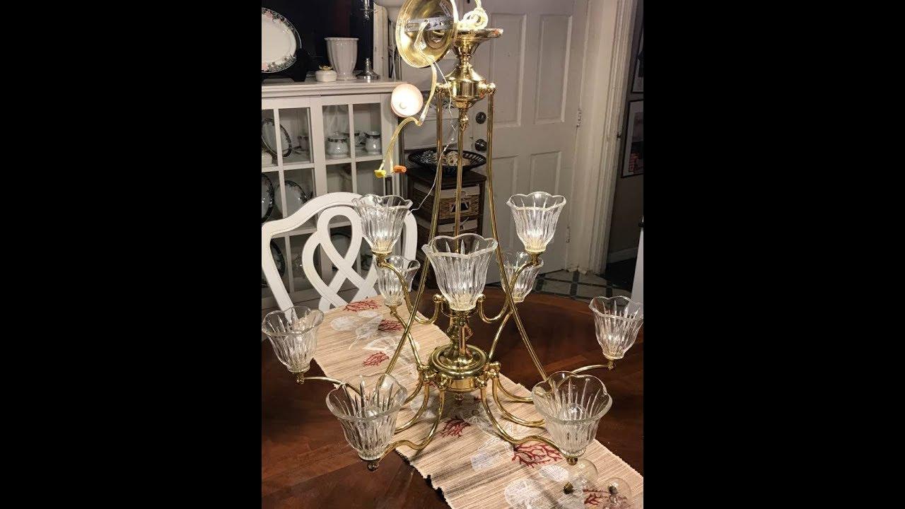 C mo pulir el bronce y cristal de l mpara chandelier de - Pintar lamparas de techo ...