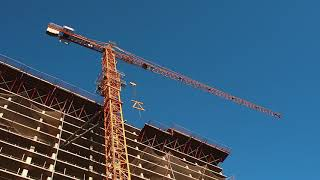 Construction Crane And Skyscraper. Free stock video. Full HD footage Free. Rec.709 1080p 60fps #15