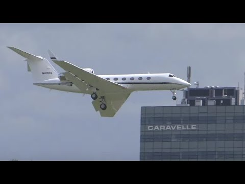 gulfstream-low-swing-over-on-final-approach-at-amsterdam-schiphol