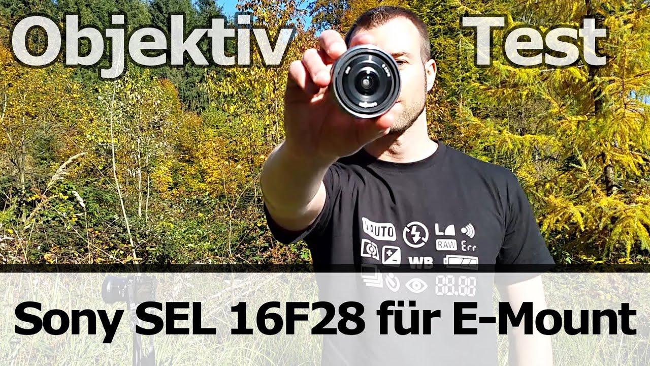 Objektiv-Test: Sony SEL 16F28 Pancake Weitwinkel (E-Mount) - YouTube