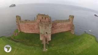 Tantallon Castle Aerial View