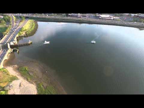 Malibu Beach Dorchester, MA Boston Skyline Dji Inspire 1 Drone