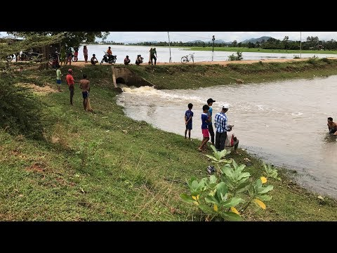A View of Khmer fishing in flood season at my country-Cambodia.