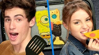 Spongebob Pancake Art Challenge Fail with Joey & Rio from Malibu Surf