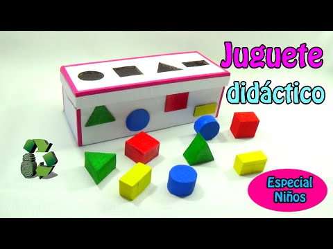 juguete didctico con figuras geomtricas reciclaje de