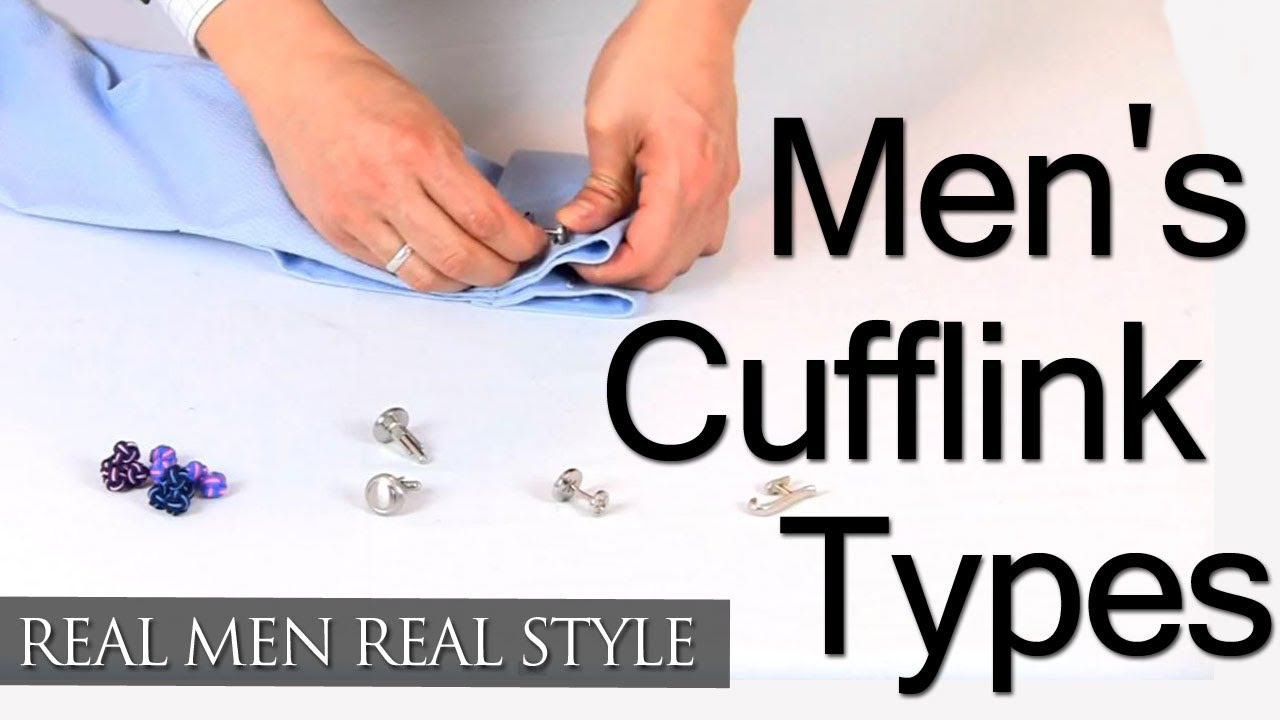 Types Of Mens Cufflinks - Cufflink Jewelry Style Overview - French Cuff  Cufflink Wearing Tips - YouTube