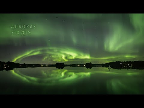 Auroras 7.10.2015 (4K TIMELAPSE)