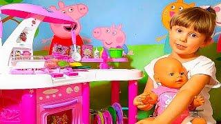 СВИНКА ПЕППА СУПЕР КУХНЯ МАША и НАСТЯ Игры Для Детей Peppa Pig Super toy Kitchen Playset Peppa Pig