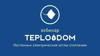 TEPLODOM Настенные электрические котлы отопления [ Вебинар от 30.05.2019 ]