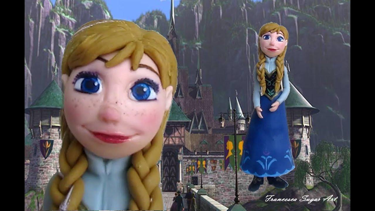 Fondant Disney Anna Frozen Cake Topper