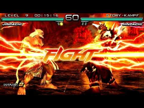 Tekken Dark Ressurection Jinpachi Human Vs Jinpachi Devil Youtube