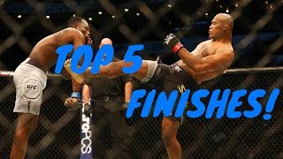TOP 5 Jacare Souza FINISHES in UFC MMA || FIGHT MATRIX!