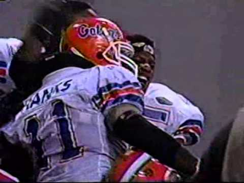 Ben Hanks intercepted A Barry Lunney pass 95 yards for A Touchdown in The 1995 SEC Championship