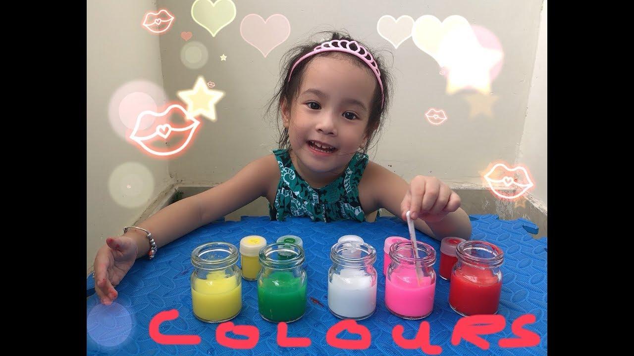 image Bé học màu sắc tiếng anh và tiếng việt với bạn Cưng - learn colors with Cung