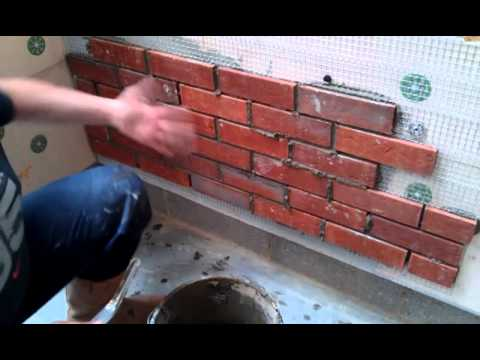 Neets Being Demonstrated The Brick Slip External Wall