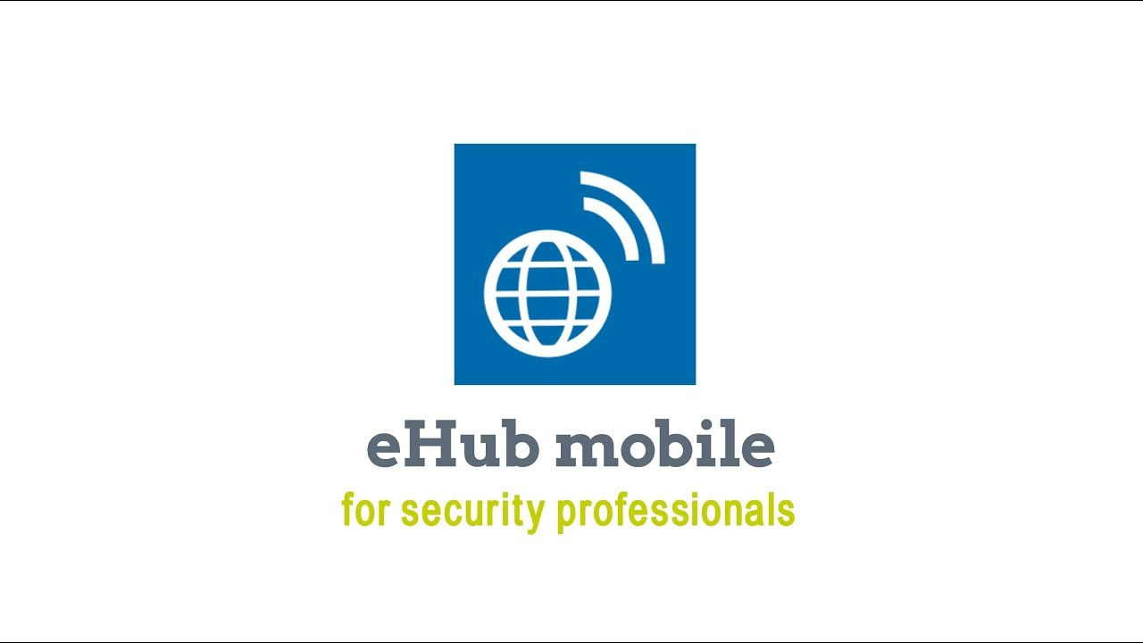 eHub Overview for Security Professionals