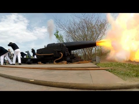 Firing Civil War Cannon Built In 1865