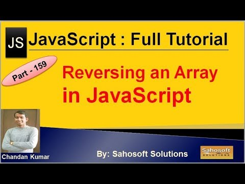 Reversing an array in JavaScript | JavaScript Full Tutorial in Hindi thumbnail