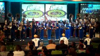 rtm mighty marching lions performing at new years eve service