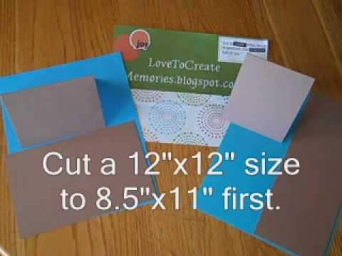Tip #3 - How to Make Invitation (A2) Size Greeting Cards from