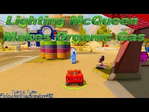 CARS MOVIE Character Lighting McQueen | McQueen Finds Organic Gas
